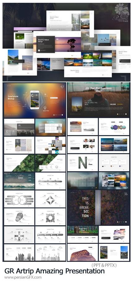 دانلود قالب آماده تجاری پاورپوینت از گرافیک ریور - Graphicriver Artrip Amazing Presentation