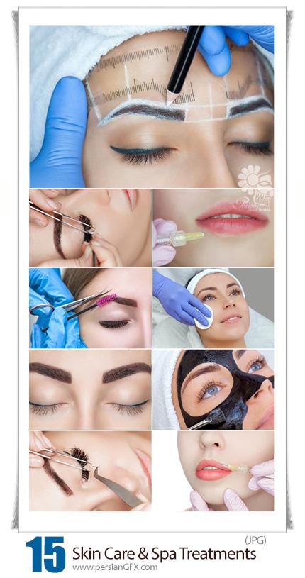 دانلود تصاویر با کیفیت مراقبت و آبرسانی پوست، تتوی ابرو، کاشت مژه و تزریق بوتاکس - Cosmetic Skin Care And Spa Treatments