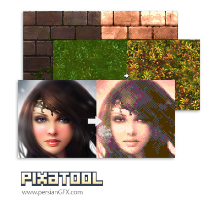 دانلود نرم افزار ساخت تصاویر پیکسلی - Kronbits PixaTool v1.34 x86/x64