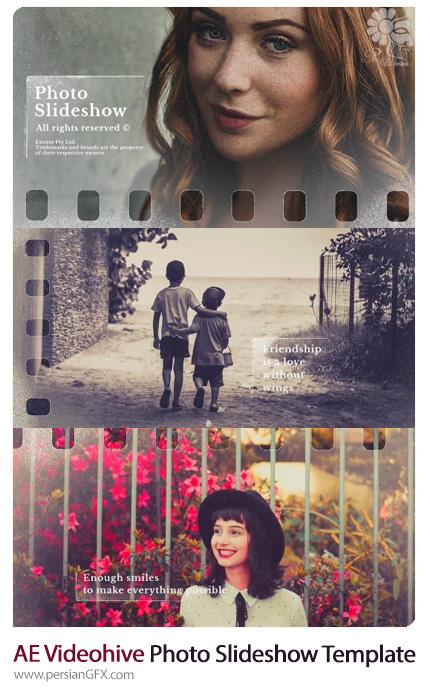 دانلود پروژه آماده افترافکت اسلایدشو تصاویر در قالب نوار فیلم به همراه آموزش ویدئویی از ویدئوهایو - Videohive Photo Slideshow After Effect Template