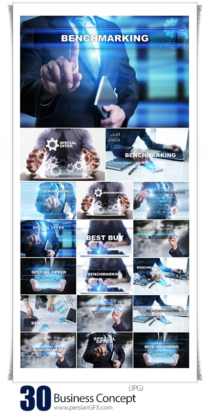دانلود تصاویر با کیفیت مفهومی تجاری، کار با لپ تاپ، تبلت، نوتبوک و ... - Business Concept Working With Documents, Tablet Pc And Notebook