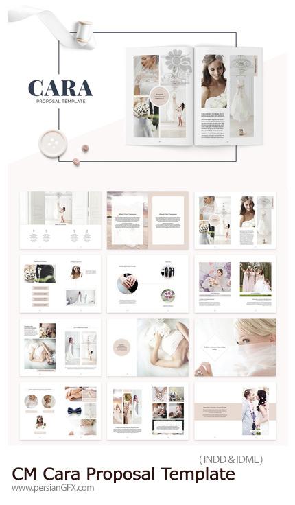 دانلود نمونه آلبوم آماده عروس و داماد با فرمت ایندیزاین - CreativeMarket Cara Proposal Template