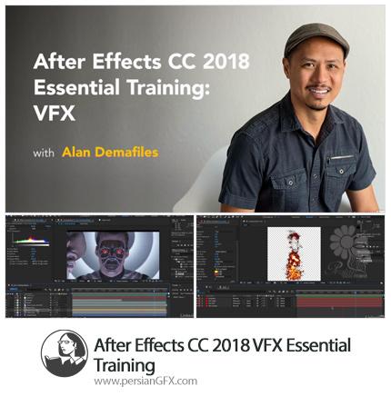 دانلود آموزش جلوه های ویژه در افترافکت سی سی 2018 از لیندا - Lynda After Effects CC 2018 VFX Essential Training