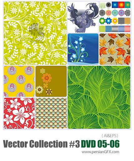 دانلود مجموعه عظیم تصاویر وکتور - بخش سوم - دی وی دی 5 و 6 - Vector Collection # 3 DVD 5 - 6