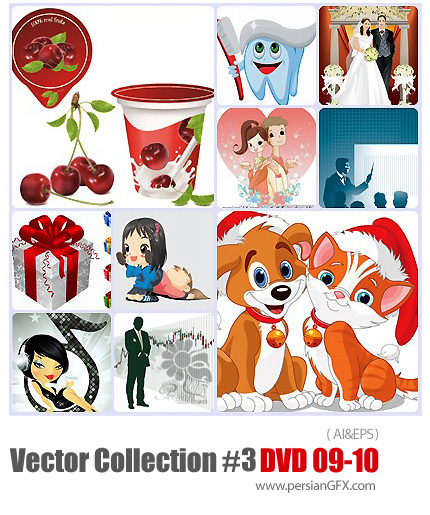 دانلود مجموعه عظیم تصاویر وکتور - بخش سوم - دی وی دی 9 و 10 - Vector Collection # 3 DVD 9 - 10