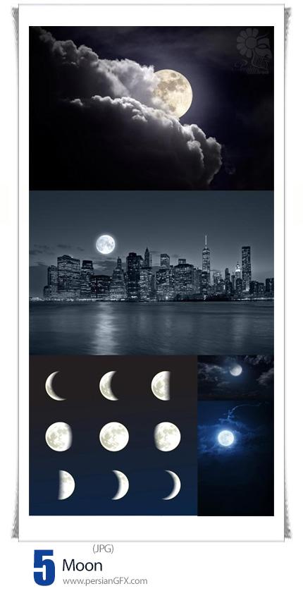 دانلود تصاویر با کیفیت ماه، ماه در آسمان، ماه پشت ابر - Moon
