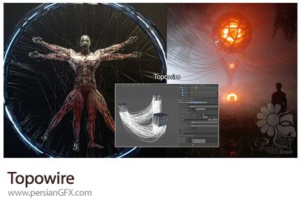 دانلود پلاگین سینمافوردی Topowire برای تبدیل اجسام به ریشه و سیم های داینامیک به همراه آموزش ویدئویی - Topowire 1.0 For Cinema 4D