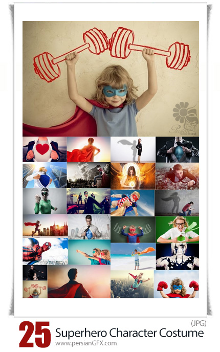 دانلود تصاویر با کیفیت مردم با لباس شخصیت های هیرو در داستان ها - Superhero Comic Character Costume