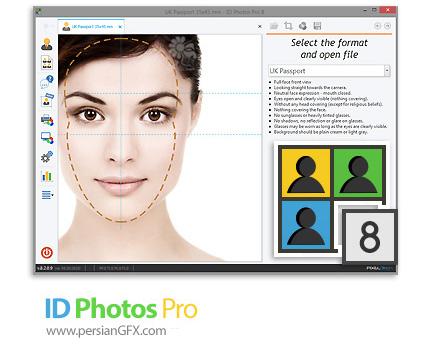 دانلود نرم افزار ساخت و آماده کردن عکس های پرسنلی برای مدارک شناسایی مختلف - ID Photos Pro v8.2.0.9