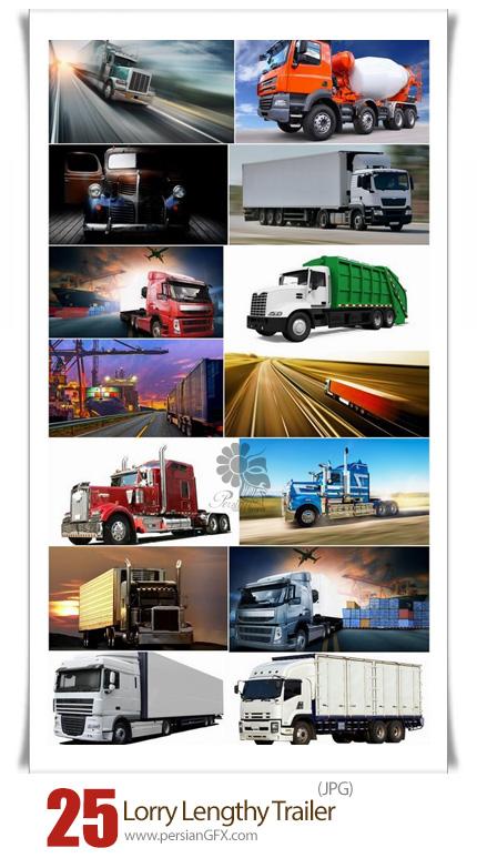 دانلود مجموعه تصاویر با کیفیت کامیون، ماشین سنگین، ماشین باربری، تریلر و ... - Lorry Lengthy Trailer Truck Refrigerated Trucking And Construction