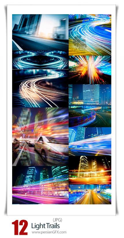 دانلود تصاویر با کیفیت مسیر حرکت نور در شهر - Light Trails