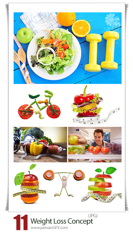 دانلود تصاویر با کیفیت مواد غذایی سالم برای کاهش وزن - Weight Loss Concept