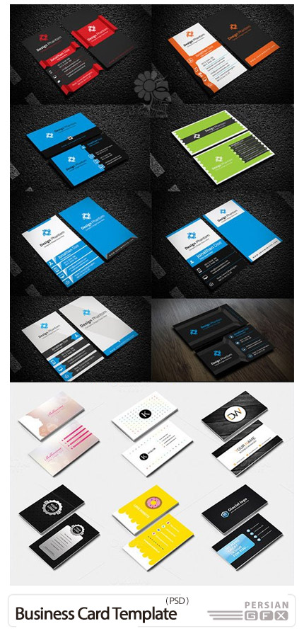 دانلود 20 کارت ویزیت لایه باز با طرح های خلاقانه - 20 Creative Business Card Template