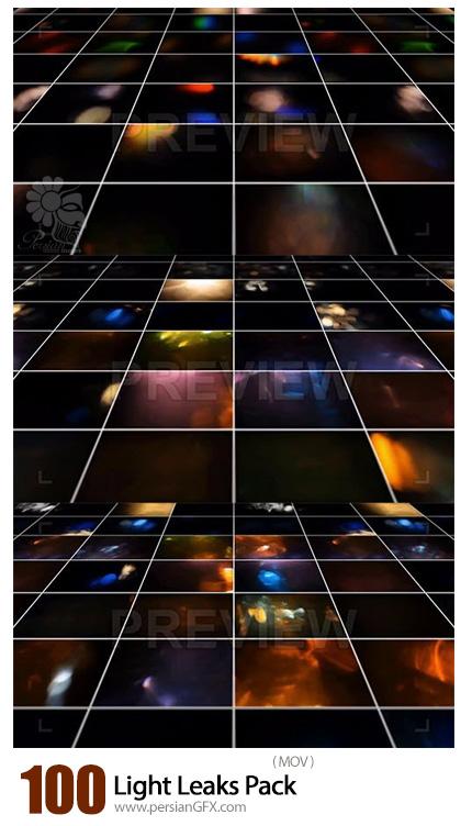 دانلود 100 ویدئوی موشن گرافیک انتشار نورهای رنگی - 100 Light Leaks Pack