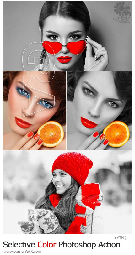 دانلود اکشن فتوشاپ انتخاب رنگ خاص در تصاویر - Selective Color Photoshop Action