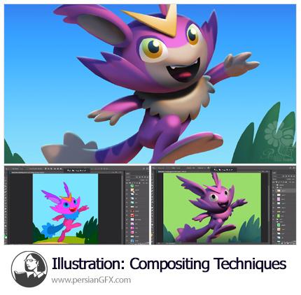 دانلود آموزش تکنیک های کامپوزیت دیجیتالی برای تصویرسازی در فتوشاپ از لیندا - Lynda Illustration: Compositing Techniques