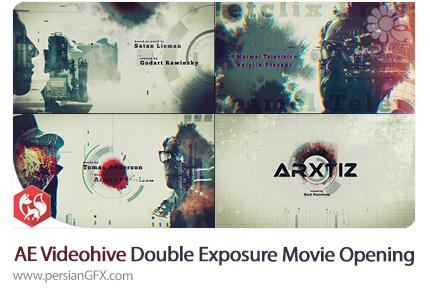 دانلود پروژه آماده افترافکت اوپنر ویدئو با افکت دابل اکسپوژر از ویدئوهایو - Videohive Double Exposure Movie Opening