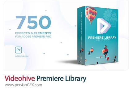 دانلود مجموعه پریست المان و افکت های Premiere Library برای پریمیر به همراه آموزش ویدئویی از ویدئوهایو - Videohive Premiere Library Most Handy Effects V.2
