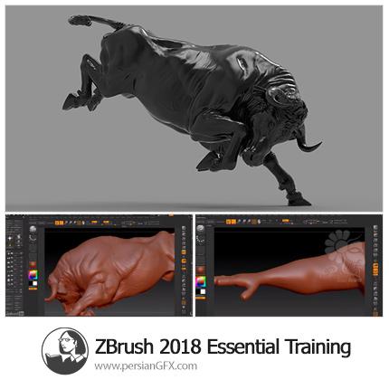 دانلود آموزش اصول و مبانی نرم افزار زیبراش 2018 از لیندا - Lynda ZBrush 2018 Essential Training