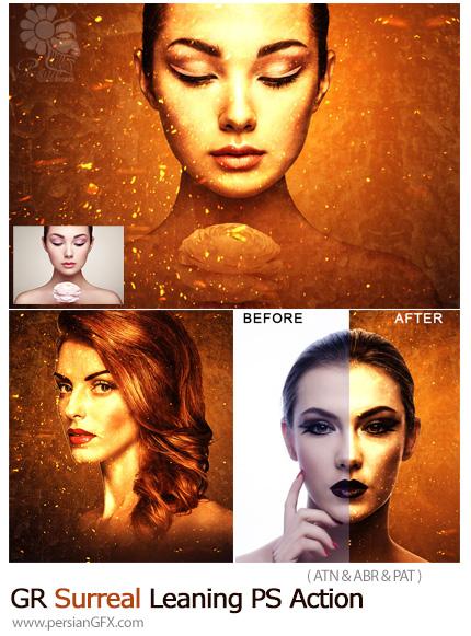 دانلود اکشن فتوشاپ ساخت تصاویر سورئال از گرافیک ریور - GraphicRiver Surreal Leaning Photoshop Action