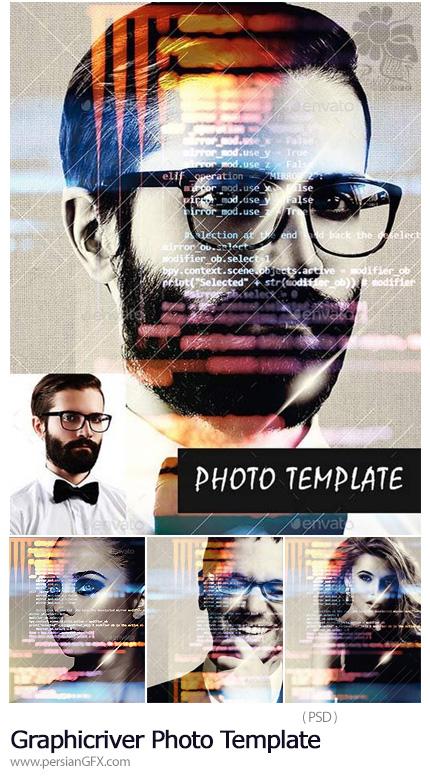 دانلود قالب لایه باز ایجاد افکت انتزاعی بر روی تصاویر از گرافیک ریور - Graphicriver Photo Template