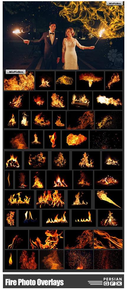 دانلود کلیپ آرت افکت شعله های آتش متنوع - Fire Photo Overlays