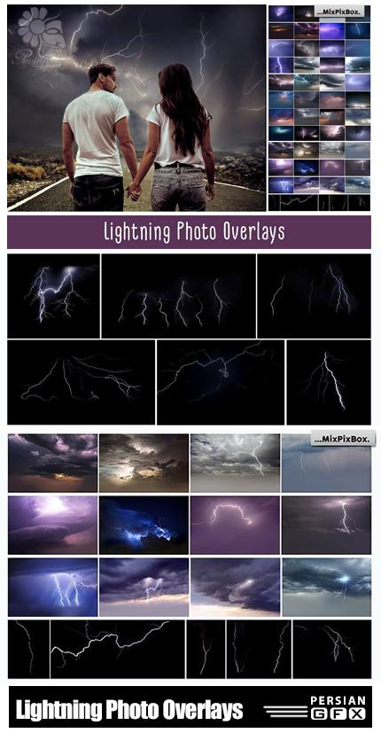 دانلود کلیپ آرت رعد و برق یا آذرخش - Lightning Photo Overlays