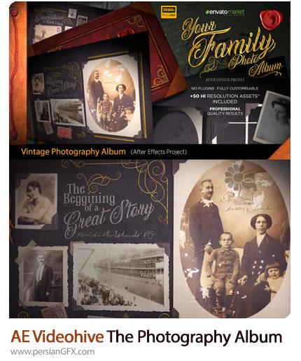 دانلود قالب نمایش آلبوم عکس قدیمی در افترافکت از ویدئوهایو - Videohive The Vintage Photography Album After Effects Templates
