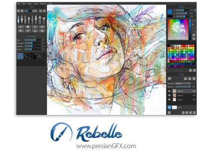 دانلود نرم افزار کشیدن نقاشی - Escape Motions Rebelle v3.0.5 x64