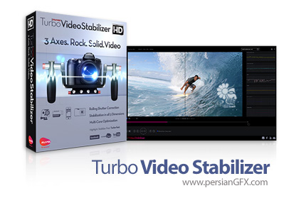 دانلود نرم افزار بهبود کیفیت نمایشی و حذف لرزش فایل های ویدئویی - muvee Turbo Video Stabilizer v1.1.0.28371 Build 3090