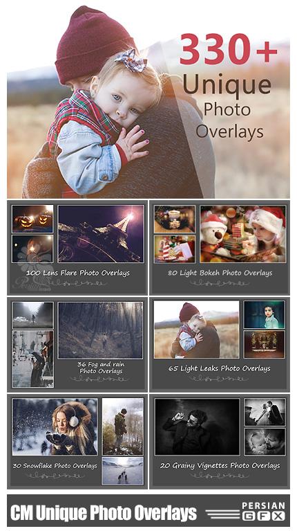 دانلود 330 کلیپ آرت متنوع شامل بوکه نورانی، باران، مه و ... - CreativeMarket 330 Unique Photo Overlays