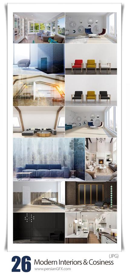 دانلود تصاویر با کیفیت طراحی داخلی ساده و مدرن - Modern Interiors And Cosiness