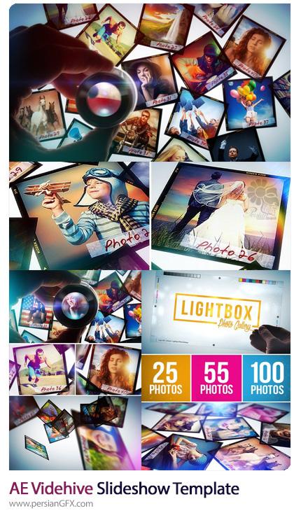 دانلود اسلایدشو تصاویر در قالب لایت باکس در افترافکت به همراه آموزش ویدئویی از ویدئوهایو - Videohive Slideshow After Effect Template