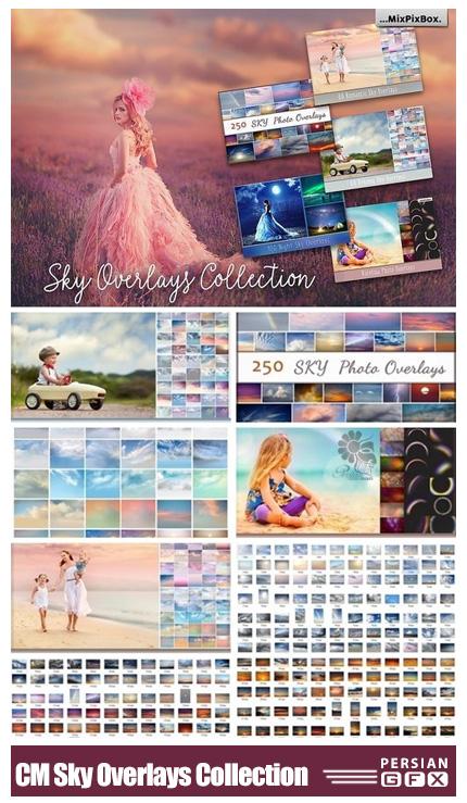 دانلود مجموعه کلیپ آرت آسمان ابری، آفتابی، رنگین کمانی، شب، روز و ... - CM Sky Overlays Collection