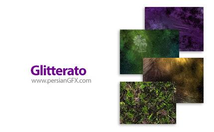 دانلود پلاگین اضافه کردن تصاویر پس زمینه ابر و ستاره در فتوشاپ - Glitterato v1.71 for Adobe Photoshop