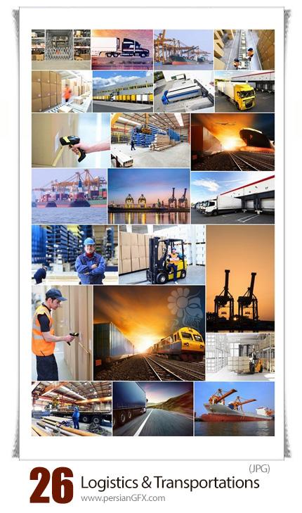 دانلود تصاویر با کیفیت وسایل حمل و نقل، هواپیما، کشتی - Logistics And Transportation