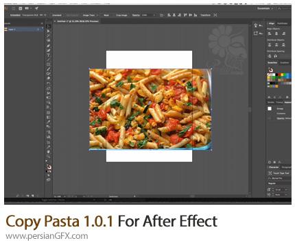 دانلود اسکریپت Copy Pasta برای انتقال فایل های عکس از افترافکت به نرم افزارهای دیگر - Copy Pasta 1.0.1 For After Effect