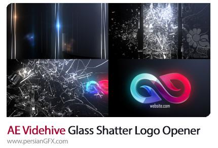 دانلود قالب نمایش لوگو افکت انتزاعی شکستن شیشه از ویدئوهایو - Videohive Abstract Glass Shatter Logo Opener Templates
