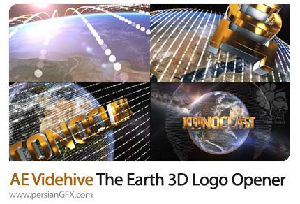دانلود اوپنر سه بعدی متن و لوگو بر روی کره زمین در افترافکت از ویدئوهایو - Videohive The Earth Element 3D Text Logo Opener