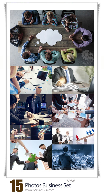 دانلود تصاویر با کیفیت تجارت و کسب و کار - Photos Business Set