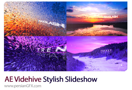 دانلود اسلایدشو تصاویر با افکت های زیبا در افترافکت به همراه آموزش ویدئویی از ویدئوهایو - Videohive Stylish Slideshow