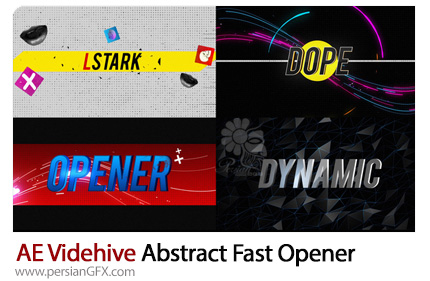 دانلود اوپنر انتزاعی لوگو و متن در افترافکت به همراه آموزش ویدئویی از ویدئوهایو - Videohive Abstract Fast Opener