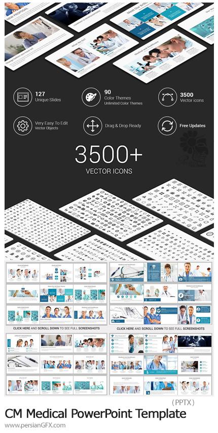 دانلود قالب آماده پاورپوینت پزشکی - CreativeMarket Medical PowerPoint Template