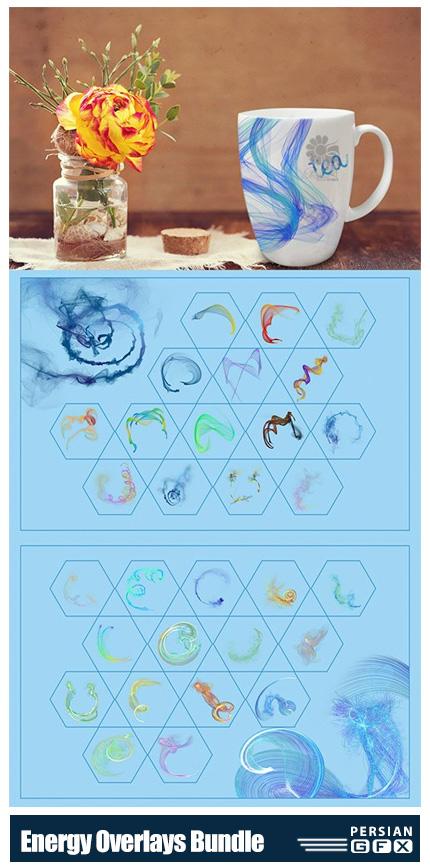 دانلود مجموعه کلیپ آرت افکت انرژی های متنوع - Energy Overlays Bundle 03