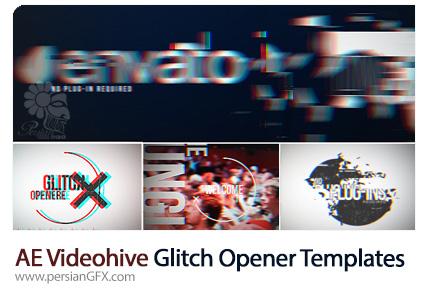 دانلود اوپنر آماده افترافکت با افکت گلیچ از ویدئوهایو - Videohive Glitch Opener After Effects Templates