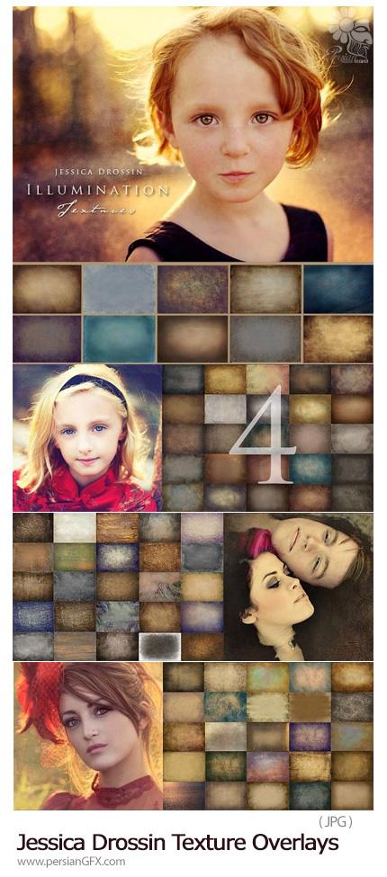 دانلود مجموعه تکسچر با کیفیت با طرح های گرانج و قدیمی - Jessica Drossin 6 Packs Texture Overlays