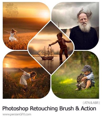 دانلود اکشن و براش فتوشاپ روتوش تصاویر - Jake Olson's Photoshop Retouching Brush And Action Set