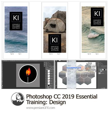 دانلود آموزش نکات ضروری طراحی در فتوشاپ سی سی 2019 از لیندا - Lynda Photoshop CC 2019 Essential Training: Design