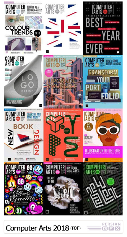 دانلود مجموعه مجله های آموزش هنر دیجیتال - Computer Arts 2018 Full Year Issues Collection