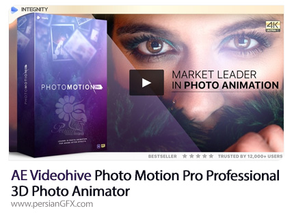 دانلود پروژه سه بعدی کردن و متحرک سازی تصاویر در افترافکت به همراه آموزش ویدئویی از ویدئوهایو - Videohive Photo Motion Pro Professional 3D Photo Animator